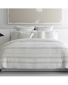 Vera Wang - Pucker Grid Duvet Cover Set, Queen