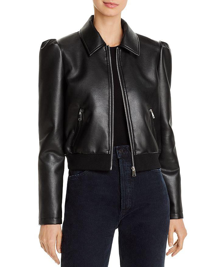 AQUA - Faux-Leather Puff-Sleeve Jacket - 100% Exclusive