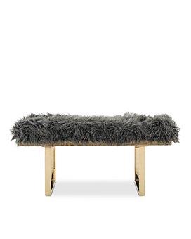 SAFAVIEH - Maia Faux Sheepskin Bench