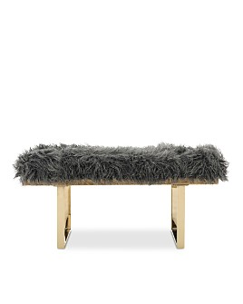 SAFAVIEH - Maia Faux Sheepskin Bench