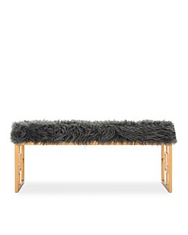SAFAVIEH - Mera Faux Sheepskin Bench