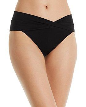 Robin Piccone - Ava Solid Twist-Front Bikini Bottom