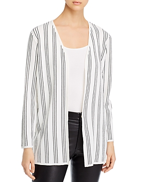 T Tahari Striped Duster Cardigan