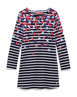Joules - Girls' Hearts & Stripes Dress - Little Kid, Big Kid
