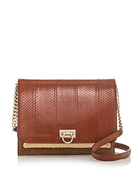 Salvatore Ferragamo - G Square Color-Block Snakeskin Crossbody