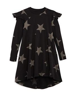 NUNUNU - Girls' Ruffled 360 Star Print Dress - Big Kid