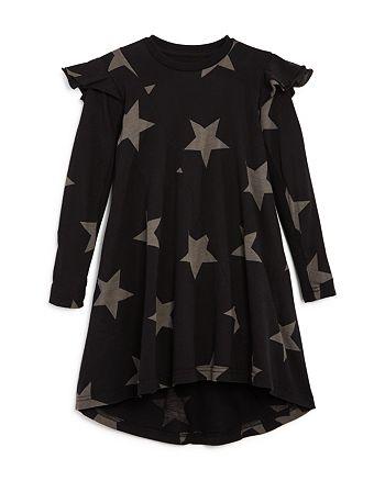 NUNUNU - Girls' Ruffled 360 Star Print Dress - Little Kid