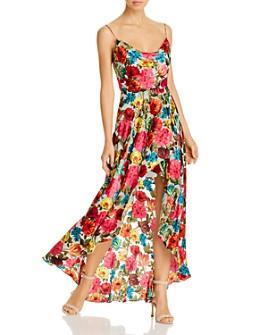 Alice and Olivia - Christina Floral Burnout High/Low Dress