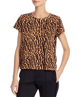 PAM & GELA - Animal-Print T-Shirt