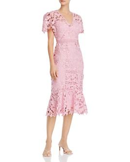 Shoshanna - Floral Lace Midi Dress