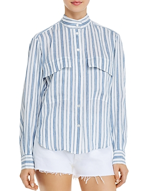 Frame Clean Striped Shirt