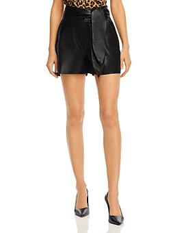 J Brand - Zinna Leather Shorts