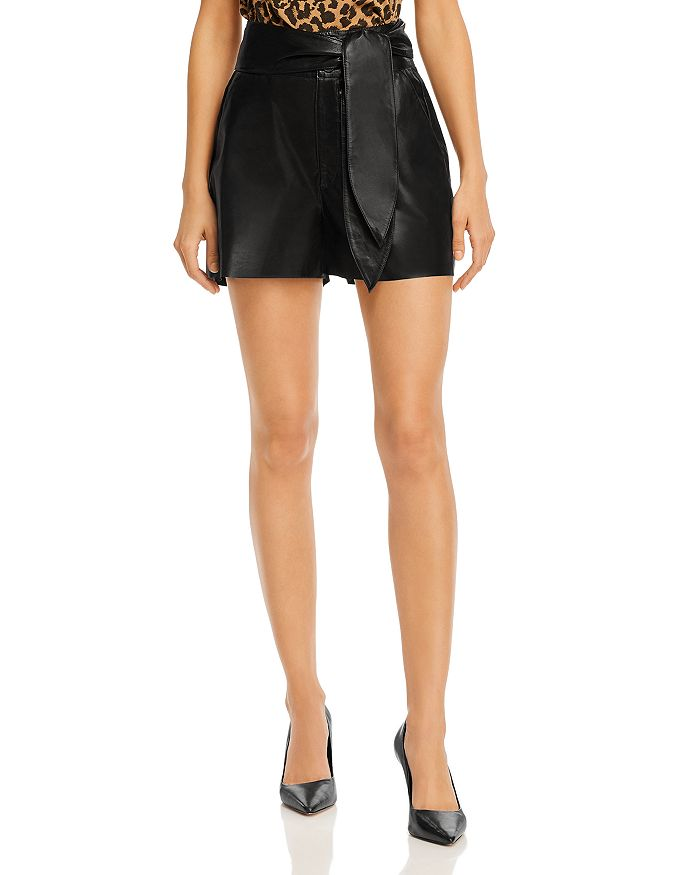 J Brand - Zinna Leather Shorts