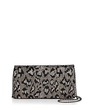 Aqua Leopard Print Sequin Clutch - 100% Exclusive-Handbags