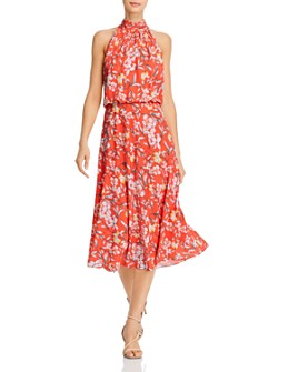 Adrianna Papell - Tea Time Floral Print Midi Dress