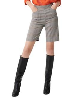 Maje - Iline Plaid Bermuda Shorts