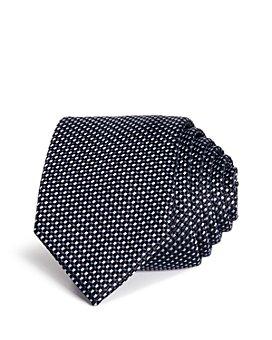 HUGO - Textured Micro-Diamond Silk Skinny Tie
