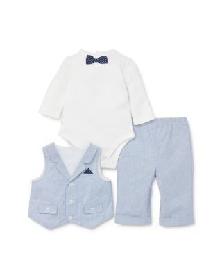 Little Me Baby Boys 2 Pack Coverall and Romper Pants
