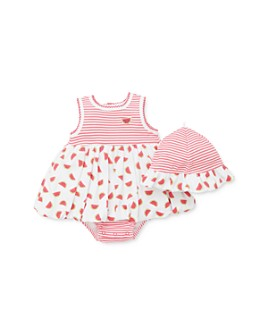 Little Me - Girls' Cotton Fruity Popover Bodysuit & Hat Set - Baby