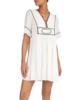 ba&sh - Talia Embroidered Babydoll Dress