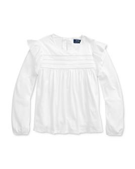 Ralph Lauren - Girls' Lace-Trim Top - Big Kid