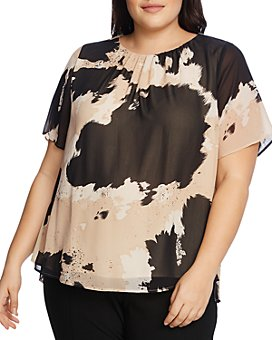 VINCE CAMUTO Plus - Abstract Printed Top