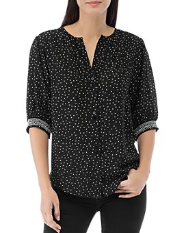 B Collection by Bobeau - Valerie Dot-Print Button-Down Top