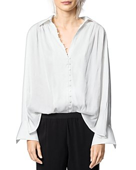 Zadig & Voltaire - Trent Button-Front Satin Shirt