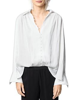 Zadig & Voltaire - Trent Button-Front Satin Shirt
