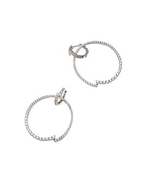 Nadri Pave Frontal Huggie Hoop Earrings-Jewelry & Accessories