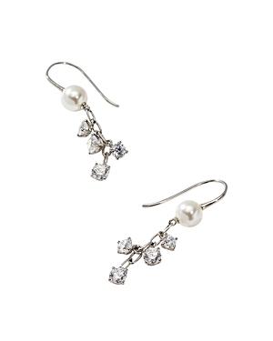 Nadri Nectar Swarovski Glass Pearl Drop Earrings