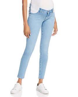 J Brand - Mama J Mid-Rise Super Skinny Maternity Jeans in Cloudy