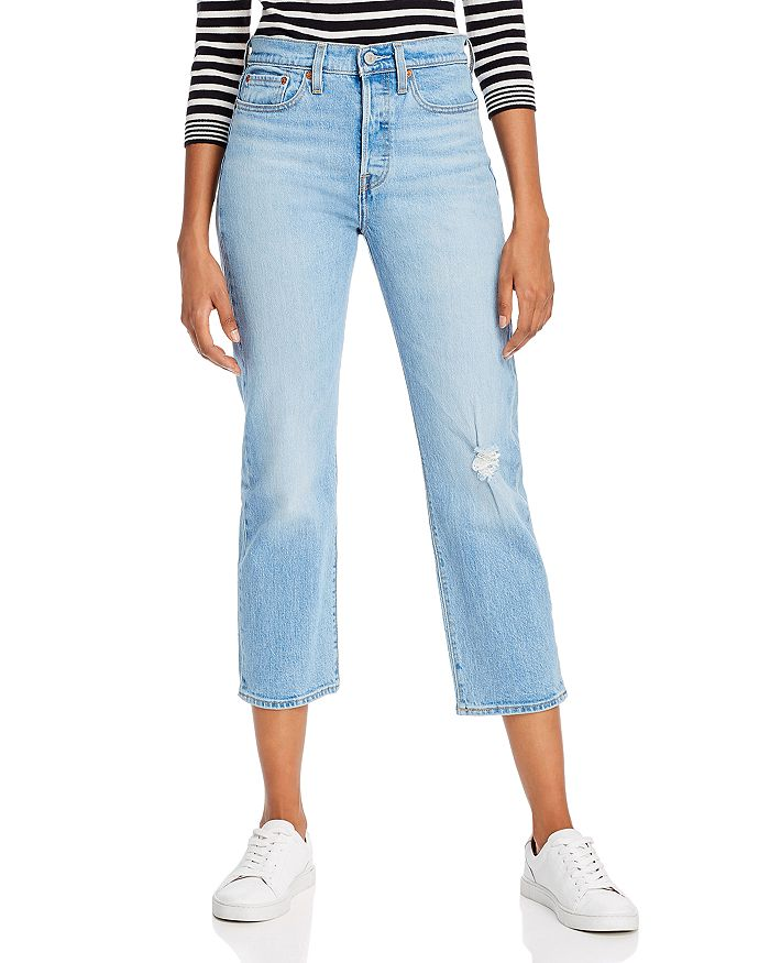 Levi's - Wedgie High-Rise Straight Crop Jeans in Tango Blue