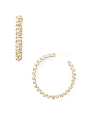 Kendra Scott Fallyn Chain Link Hoop Earrings-Jewelry & Accessories