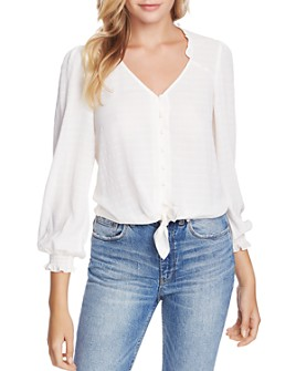 1.STATE - Ruffled Tie-Front Blouse