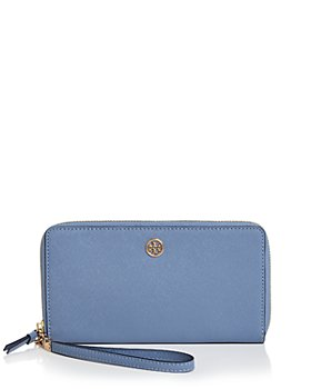 Tory Burch - Robinson Leather Continental Zip Wallet