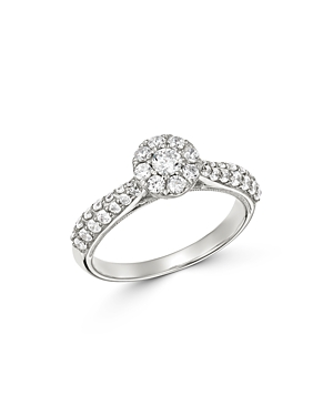 Bloomingdale's Diamond Cluster Engagement Ring in 14K White Gold, 0.75 ct. t.w. - 100% Exclusive