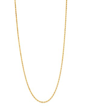 Bloomingdale's - Solid Glitter Chain Necklace in 14K Yellow Gold - 100% Exclusive