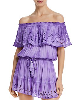 Ramy Brook - Marino Off-The-Shoulder Mini Dress Swim Cover-Up