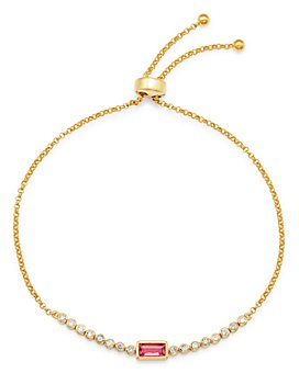 Bloomingdale's - Pink Tourmaline & Diamond Bolo Bracelet in 14K Yellow Gold - 100% Exclusive