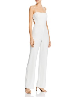 Aidan by Aidan Mattox - Crepe Cutout Jumpsuit - 100% Exclusive