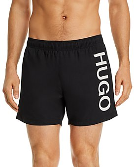 HUGO - Abas Logo Graphic Swim Trunks