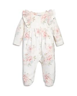 Miniclasix - Girls' Floral-Print Footie Bodysuit - Baby