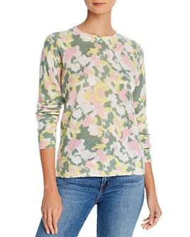 Minnie Rose - Crewneck Watercolor Cashmere Sweater