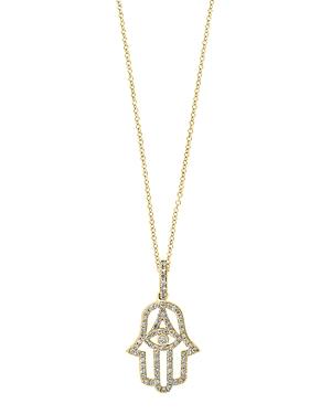 Bloomingdale's Diamond Hamsa Hand Pendant Necklace in 14K Gold - 100% Exclusive