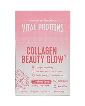 Vital Proteins - Beauty Collagen Glow Supplement Stick Pack Box - Strawberry Lemon