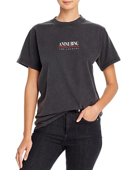 Anine Bing - Lili Cotton Logo T-Shirt