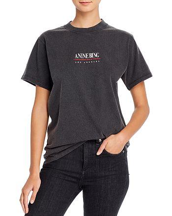 Anine Bing - Lili Cotton Logo T-Shirt