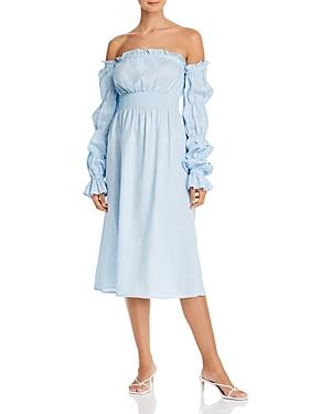 Sleeper Michelin Cold-Shoulder Dress