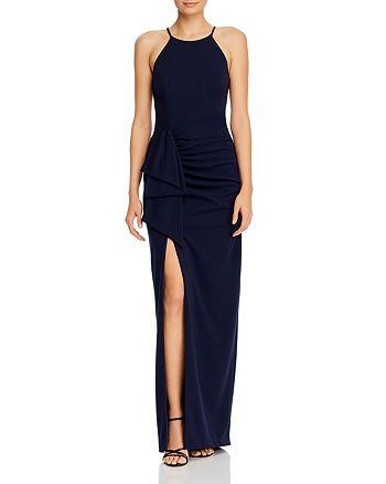 AQUA - Cascading Ruffle Gown - 100% Exclusive